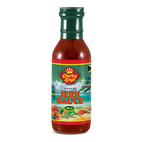Charley King's All Natural Jerk Sauce (Mild) | Flavorful and Healthy, Authentic Jamaican Seasoning | Vegan, Gluten-Free, No Preservatives or MSG | 12 oz.