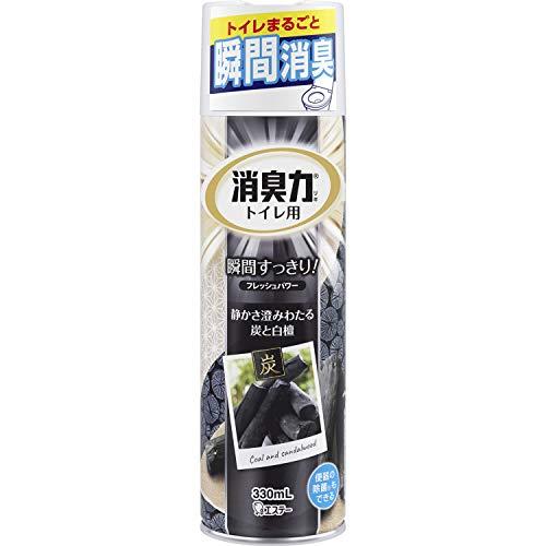 トイレの消臭力スプレー 消臭芳香剤 トイレ用 トイレ 炭と白檀の香り 330ml