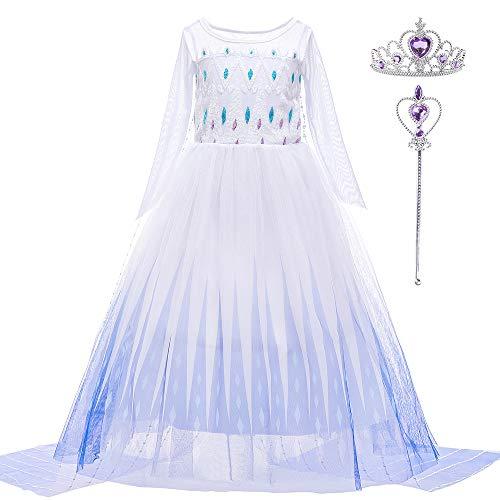 Little Girls Princess Dress Costume for Christmas birthday Halloween Party ((140CM(6-8T)-XXL)