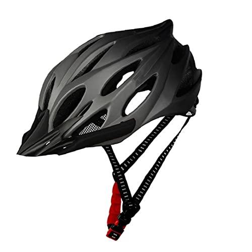 Adult Fahrradhelm Mit Licht, Fahrradhelm Männern Frauen, Rennrad & Mountainbike Helme Mit Abnehmbarem Visier Und Futter,