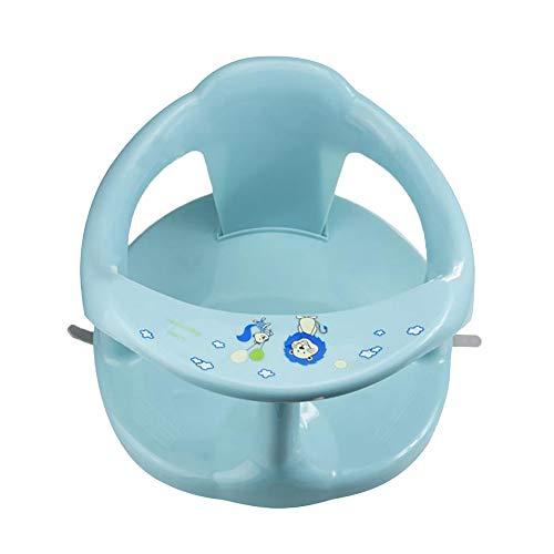 Finetoknow Asiento de baño para bebé, silla de ducha de bebé, asiento de bañera de plástico con respaldo y ventosas para bebés