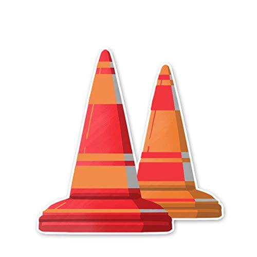 SUIFENG Selbstklebend Aufkleb 12.7 X 12.7 cm Barrikaden Ahle Warnschild Autoaufkleber Achtung