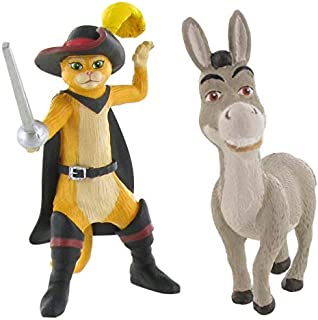 Shrek Figures | 8 cm Donkey and Puss in Boots Mini Figures
