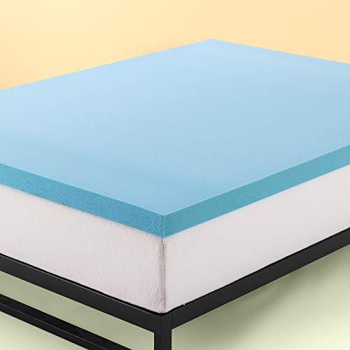 Zinus - Espuma de Memoria para colchón con Gel de enfriamiento (5 cm, Espuma certificada...
