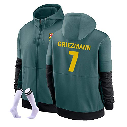 LJF Antoine Griezmann # 7 Football Sudadera con Capucha Suéter De Fútbol Cálido Y Grueso Sudadera Unisex S-3XL (Color : E, Size : Adult XX-Large)