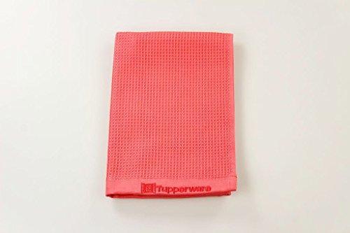 TUPPERWARE 16901 FaserPro Chiffon en microfibre pour surfaces vitrées T22, rouge