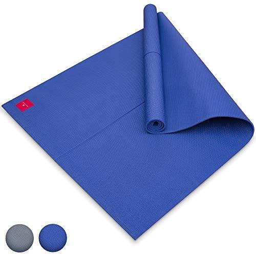 SHANTI NATION - Shanti Mat XXL - Estera para Yoga Extra Grande - 200 * 100 * 0.6 cm - amistosa con el Ambiente - marcación de alineación - Midnight