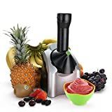 """Fruit soft serve machine: Easily create yummy vegan tasting treats by adding any combination of chocolate, or fruits like over-ripe bananas, berries, or mango to the chute for a smooth """"ice-cream"""" like taste. Healthy goodness: You can instantly churn..."""