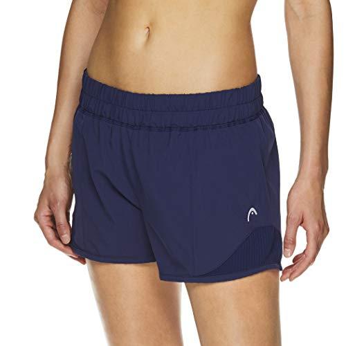 Head - Pantalones cortos de entrenamiento para mujer (poliéster), color negro -  Azul -  S