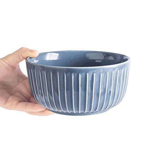 SCDMY Vajilla práctica, tazón de cerámica Creativo, tazón de Sopa de Ensalada de Frutas Cuenco de gachas de Avena, Tres Colores Pueden Elegir un tazón de arroz casero (Color : B)