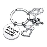 BESPMOSP Collection Nurse Keychain Keyring Nursing Graduation Valentines Birthday Gift(RN)