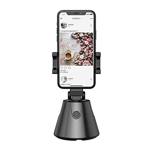Soporte para teléfono de 360 grados Seguimiento automático de objetos faciales Cámara de disparo inteligente Selfie Stick Fotografía Selfie Rotación con todos los teléfonos móviles iOS y Android