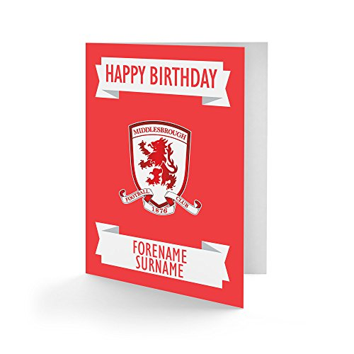 Official Personalised Middlesbrough FC Crest Birthday Card