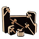 YWRD Cajas y organizadores de Joyas Cajas para Joyas Multifunción Caja de joyería Caja de Pulsera Caja de Regalo Caja Colgante Joyero para Pendientes Set,White Bottom