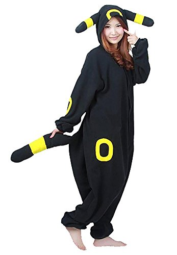 EverBeauties Cartoon Gelb Umbreon Cosplay Kost¨¹m Mit Kapuze Unisex Erwachsenen Pyjamas L