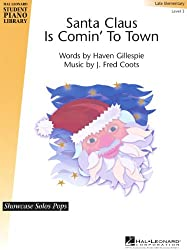 Hal Leonard Santa Claus Is Comin\' to Town Piano Library Series by Haven Gillespie (Level Late Elem)