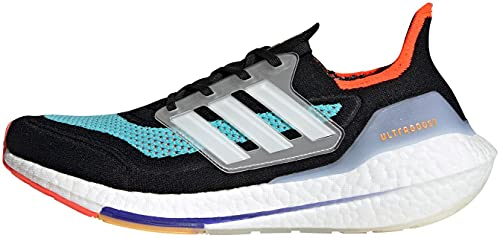 adidas Ultraboost 21, Zapatillas de Running Hombre, NEGBÁS/FTWBLA/AGUPUL, 42 2/3 EU