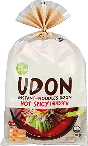 Allgroo (Almho) Fideos Udon, Picantes 690 g