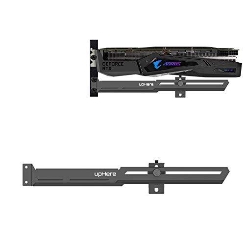 upHere Grafikkarte GPU Brace Support-Videokarte Sehnenhalter/Holster-Halterung,Einzelsteckkarten (Schwarz),G276BK