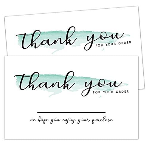 50 Dankeskarten für Bestellungen, Dankeschön für die Unterstützung meiner kleinen Visitenkarten, Kunden-Dankeskarten für Online-Händler, kleine Unternehmer und lokale Geschäfte, 5,1 x 8,9 cm
