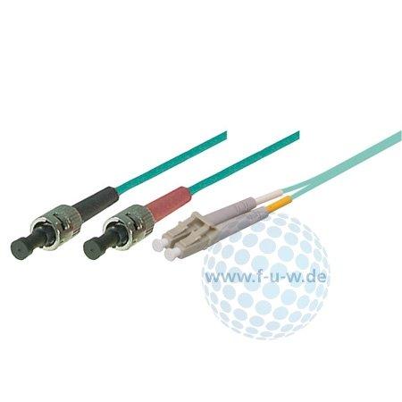 Tecline 39985430 OM3-Faser LWL-Kabel (50/125 µm, 30,0 m) türkis