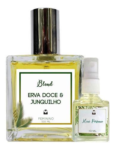 Perfume Erva Doce & Junquilho 100ml Feminino - Blend de Óleo Essencial Natural + Perfume de presente