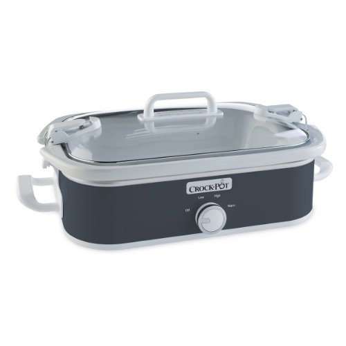 Crock-Pot 3.5 Quart Casserole Manual Slow Cooker, Charcoal