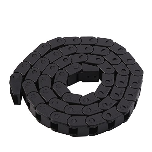 Nylon Drag Chain,R28 Nylon Cable Drag Chain Wire Carrier 1000mm/40' Long for 3D Printer/CNC Router Machine(Black)
