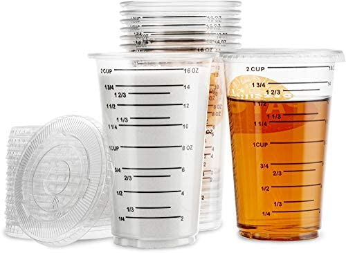 2 Cup 16 Oz 450 ML Disposable Measuring Cup With Lids For Resin Multi Purpose For Mixing Epoxy product image