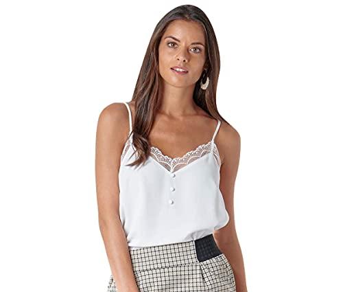 Naf Naf H-Top Camiseta sin Mangas, Marfil (Écru 333), 40 para Mujer
