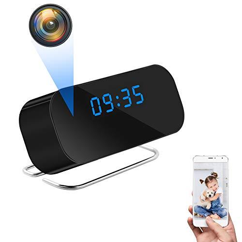 UYIKOO WiFi Espia Cámara, Reloj Cámara Oculta Espía HD 1080P Mini Cámara Reloj WiFi con Soporte de Angulo Ancho de 150° App Vista Remota