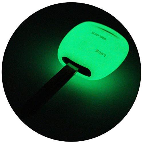 Finest-Folia - Funda de silicona para llave de coche con 2 botones (luz nocturna)