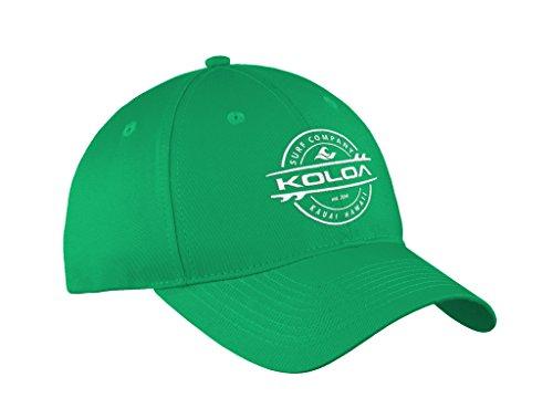 Koloa Surf Thruster Logo'Old School' Curved Bill Solid Snapback Hat Kelly/w