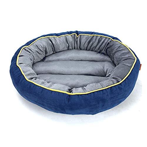 QXIAO Cama para Perros Colchón Grande para Dormir para Mascotas Cama para Abrazos Perrera Lavable Suave Y Cómoda Alfombrilla para Perros Gatos Mascotas Cama para Abrazos Perrera,Blue-L