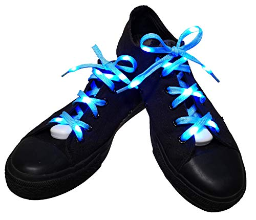 Lilware Dare to to Be Visible Shoelaces Schnürsenkel Mit LED Blinklicht Licht. Farbe: Blau
