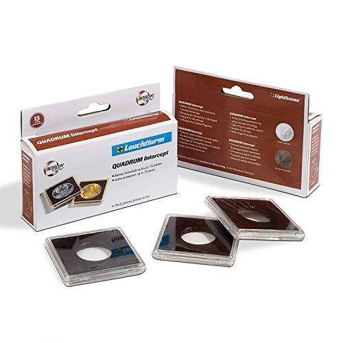 Cápsulas para monedas QUADRUM Intercept, diámetro 38 mm, negra