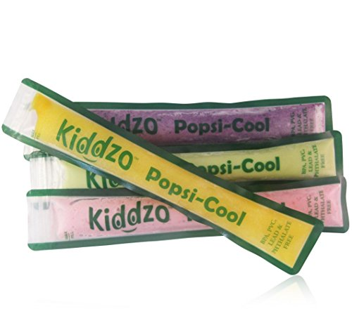 Reusable Ice Pop Mold - 20 Pack with Funnel. Popsicle Maker Is Great to Freeze Homemade Healthy Organic Pops for Kids. BPA Free.