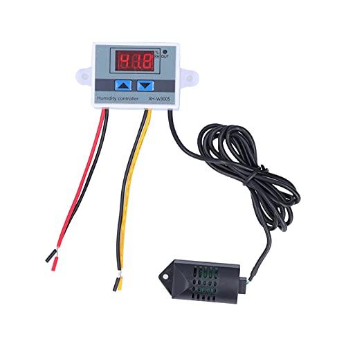 Sensor de controlador de humedad digital Interruptor de control de higrómetro flexible con dos botones hacia arriba y hacia abajo para el cultivo de hongos en invernadero