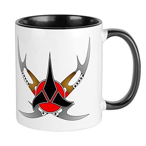 CafePress–Klingone Emblem–Einzigartige Kaffee Tasse, Kaffeetasse, Small White/Black Inside