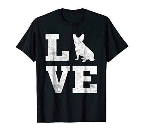I Love French Bulldog Shirt Frenchie Dog Lover Owner Gifts