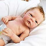 HUANLIAN 18 Pulgadas 46 Cm Reborn Baby Doll (2 Géneros) Realista Realista Suave Silicona Muñecas Recién Nacidas Lindas Bebé Niño/Niña Imán Chupete, Girl