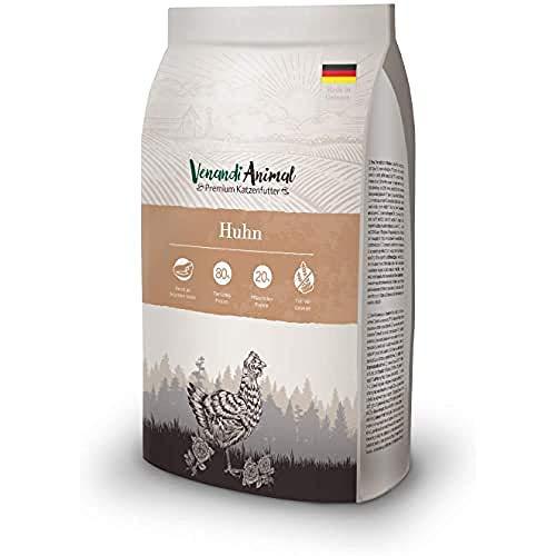 Venandi Animal Premium Trockenfutter für Katzen, Huhn, getreidefrei mit viel frischem Fleisch, 1.5 kg