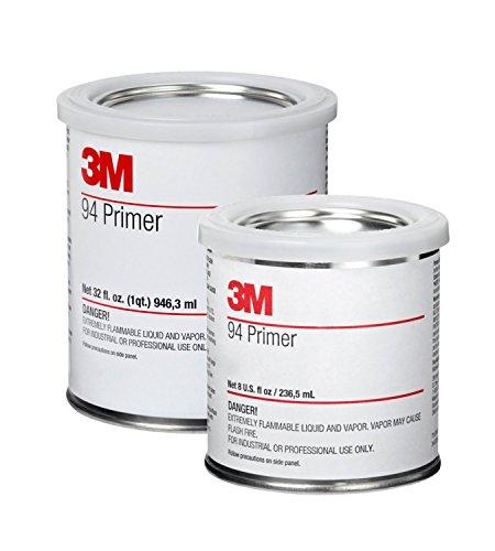 3M Primer 94 | 3M VHB Acrylic Foam Klebeband Haftvermittler für kritische Oberflächen wie PE, PP, ABS, EPDM, PET/PBT Mischungen, Beton, Holz, Glas, Metall und gestrichene Metalle (2. 3M VHB Klebeband Primer 94 - Dose 236,5ml)