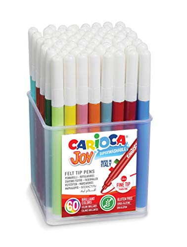 Carioca 42445 Fasermaler Joy, 60 Stück