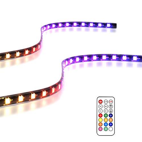 EZDIY-FAB Bandes de LED RGB adressables magnétiques pour Ordinateur avec contrôleur (Compatible avec ASUS Aura Sync et MSI Mystic Light Sync) -2 Pack 40CM