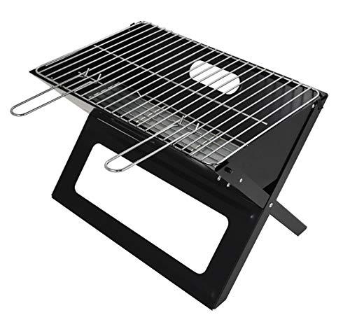 WYQ Folding Grill Notebook - Tragbare Picknick Grill mit Chrom überzogen Bratrost (Schwarz)