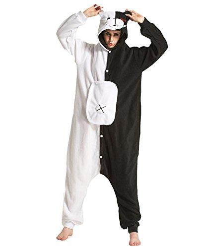 Yimidear Cosplay Ropa de Dormir, Unisex Adulto Pijamas Animales Disfraz Traje de Dormir Kigurumi Onesie (M, Monokuma)