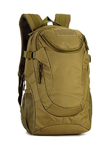 Yakmoo Sac à Dos Tactique de Grande Capacité Militaire Backpack Imperméable Molle Système Sac d'école en Nylon Sac de Multifonction 25L à l'Air Libre