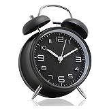 SFLRW Reloj despertador de la vendimia, reloj de alarma analógico retro, reloj de 4 pulgadas Súper silencioso sin tictac, operado por baterías, Simplemente diseño, para sala de estar, dormitorio, cabe