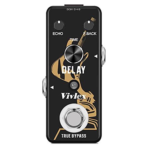 Vivlex LEF-314 Pedal de delay efectos vintage para guitarra eléctrica
